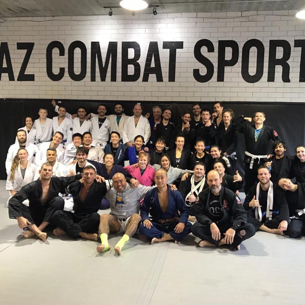 Students at a jiu-jitsu class Vancouver
