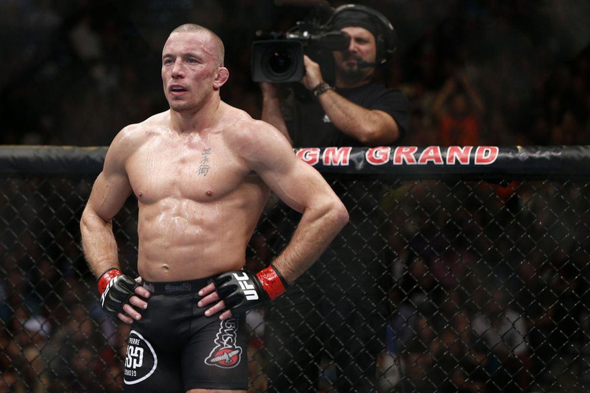 UFC champion GSP stays in shape through MMA training